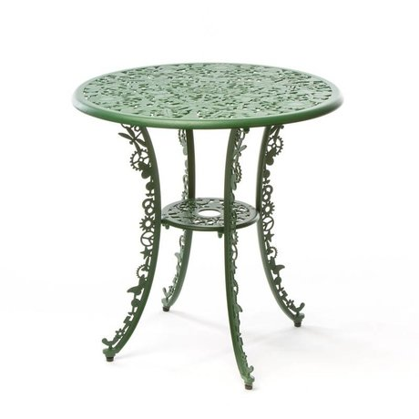 Seletti Table Industry green aluminum ø70x74cm