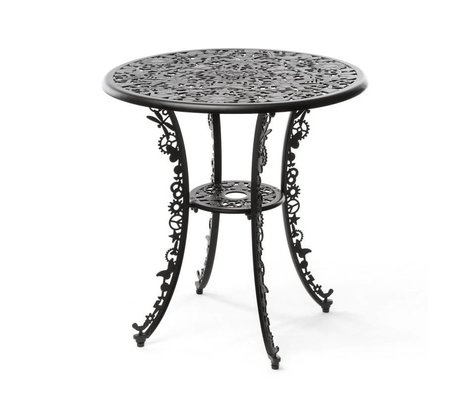 Seletti aluminium noir Table de l'industrie ø70x74cm
