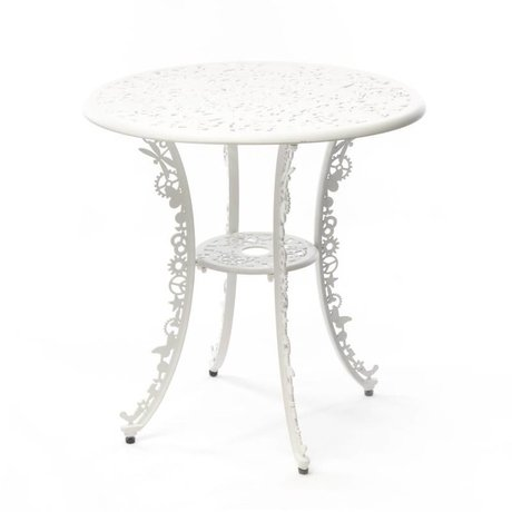 Seletti Table Industry white aluminum ø70x74cm