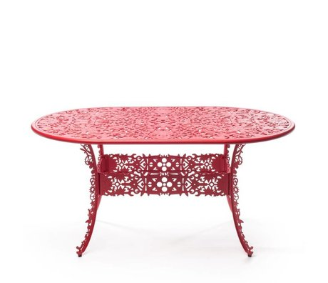 Seletti Industry red aluminum table 152x90x74cm