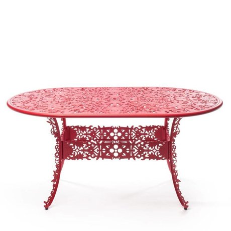 Seletti Industrie aluminium rouge Table 152x90x74cm