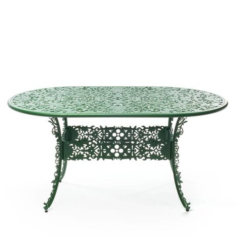Seletti Table Industry green aluminum 152x90x74cm