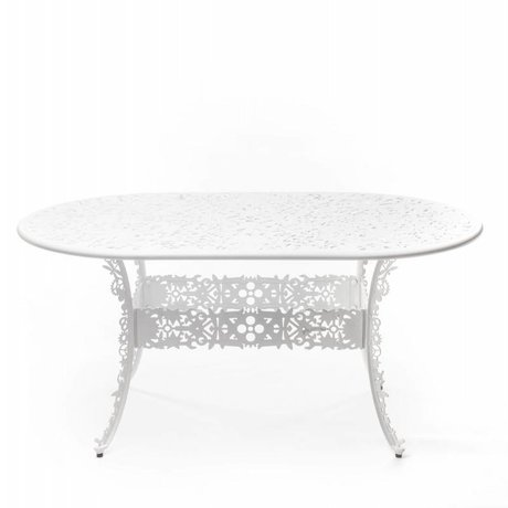 Seletti Industrie aluminium blanc Table 152x90x74cm