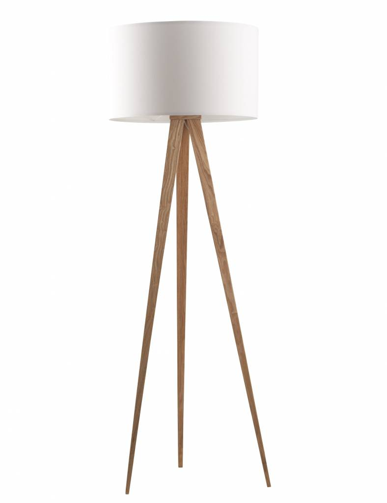 Zuiver Stehlampe Stativ Naturholz Weiss 151x50cm Wonen Met Lef