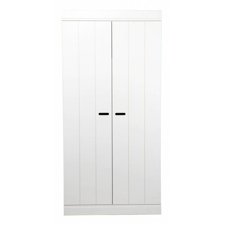LEF collections Armoire 'Connect' 2 bandes de porte porte pin blanc 195X94X53cm