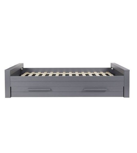 Woood Dennis Bed.Lef Collections Bed Dennis First Person Steel Gray Brushed Pine 90x219cm