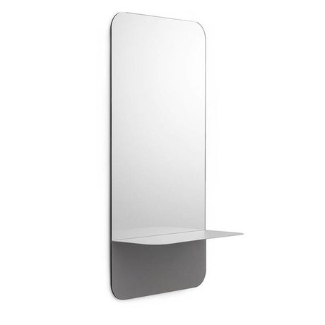 Normann Copenhagen Mirror Mirror Horizon vertical gray steel 80x40cm