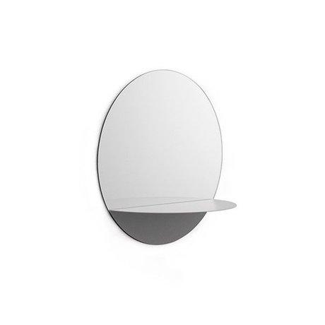 Normann Copenhagen Horizon mirror Mirror round gray steel Ø34cm
