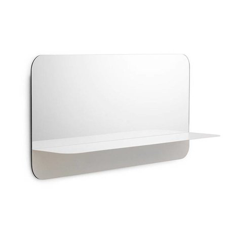 Normann Copenhagen Mirror Mirror Horizon horizontal white steel 40x80cm