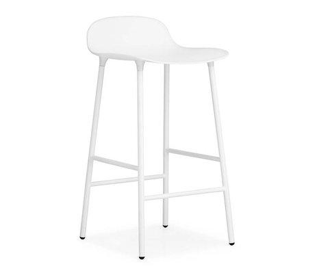 Normann Copenhagen Barstuhl Formular aus weißem Kunststoff Stahl 77x42,5x42,5cm