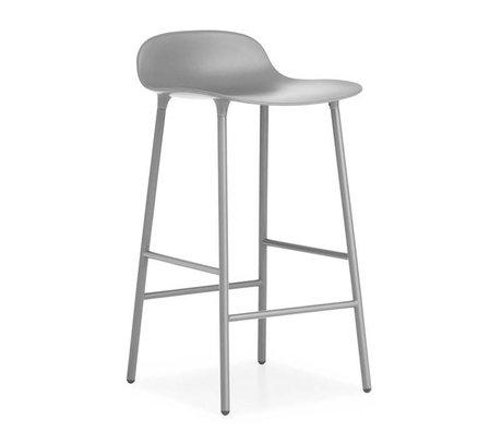 Normann Copenhagen Forme Barstool plastique gris 77x42,5x42,5cm en acier