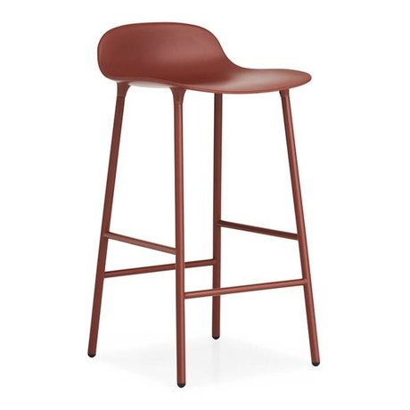 Normann Copenhagen Barstuhl Formular roten Kunststoff-Stahl 77x42,5x42,5cm