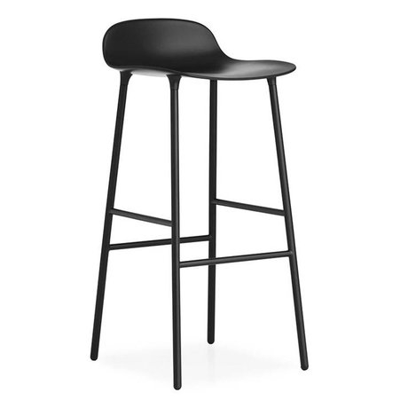 Normann Copenhagen Barstool Form black plastic steel 87x44x44cm