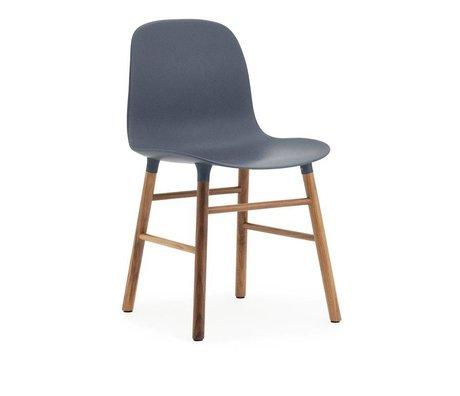 Normann Copenhagen Form gray plastic chair walnut wood 78x48x52cm - Copy - Copy