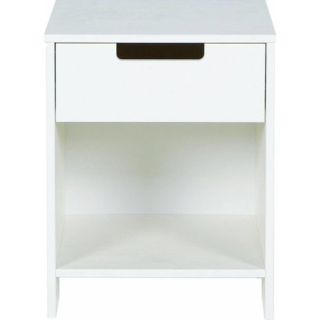 LEF collections Nightstand 'Jade' white pine 52x40x33cm