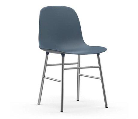 Normann Copenhagen Form blue plastic chair chrome 78x48x52cm