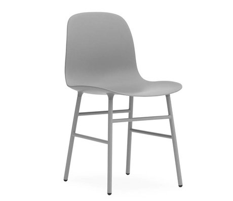 Normann Copenhagen Form Chair gray plastic steel 78x48x52cm