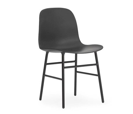 Normann Copenhagen Form Chair black plastic steel 78x48x52cm