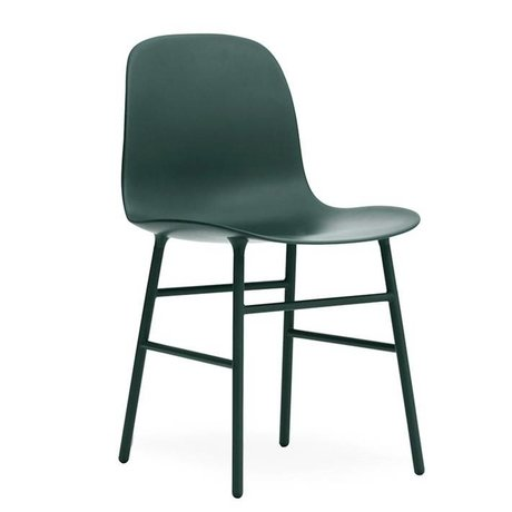 Normann Copenhagen Form Chair green plastic steel 78x48x52cm