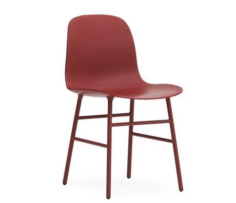 Normann Copenhagen Form Stuhl rot Kunststoff Stahl 78x48x52cm
