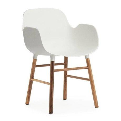 Normann Copenhagen Stuhl mit Armlehne Form Weiße Walnuss Holz-Kunststoff 80x56x52cm