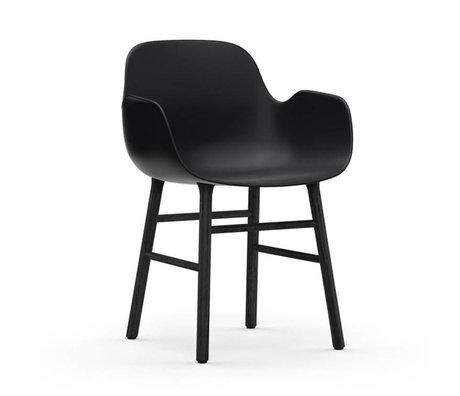 Normann Copenhagen Chaise à accoudoirs Formulaire bois plastique noir 80x56x52cm