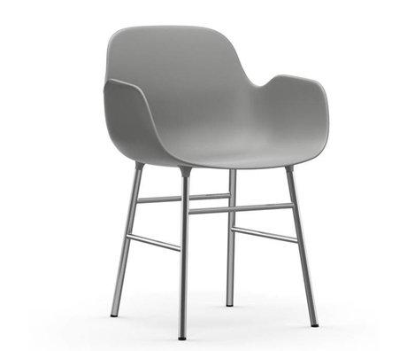 Normann Copenhagen Sessel Formular grauen Kunststoff-Chrom 80x56x52cm