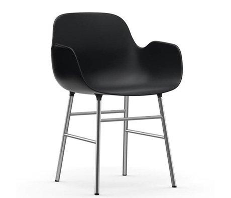 Normann Copenhagen Sessel Formular grauen Kunststoff-Chrom 80x56x52cm - Copy