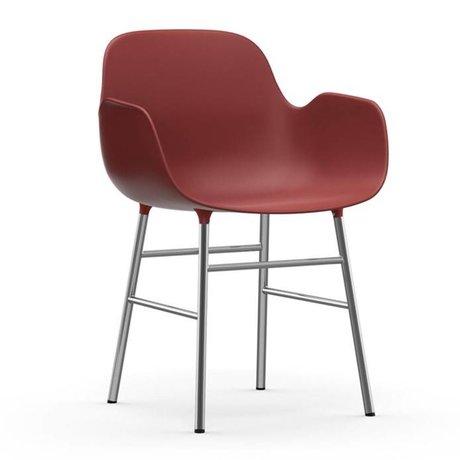 Normann Copenhagen Sessel Formular grüne Kunststoff-Chrom 80x56x52cm - Copy