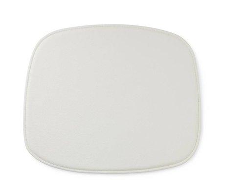 Normann Copenhagen Form zitpad weißem Leder 1x46x39cm