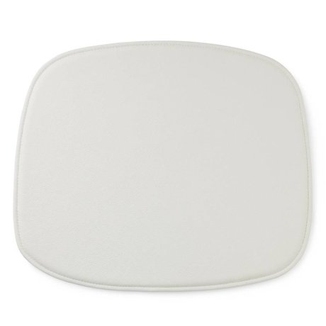 Normann Copenhagen Form zitpad white leather 1x46x39cm