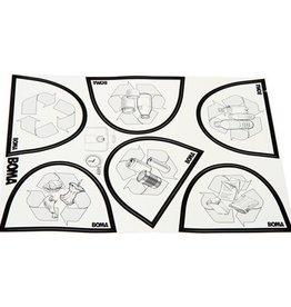 Bomabin Select Flat avec couvercle papier - 60 l - NOIR - couvercle BLEU