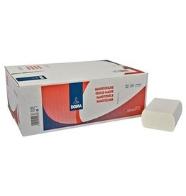 "Multifold handdoekjes - zuiver tissue - type ""TAD"" - 2 laags - 32 x 20 cm - WIT - 2000 stuks (20x100)"