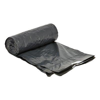 MDPE sac à déchets avec lien de fermeture - 50 x 45 cm - T25 - 15 l - GRIS - rouleau 25 pièces