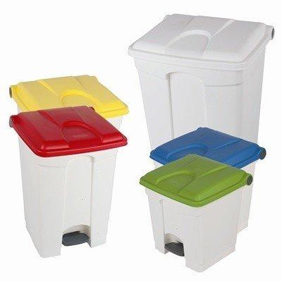 """Bomabin Select Pedal - 45 l - BLANC - couvercle JAUNE(Avant: Poubelle à pédale """"Color"""" - 45 l - BLANC - couvercle JAUNE)"""