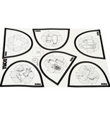 Bomabin Select Pedal - 45 l - WIT - deksel GROEN