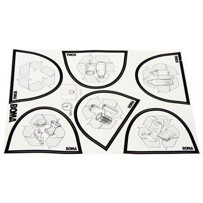Bomabin Select Pedal - 70 l - WIT - deksel ROOD