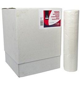 Draps d'examen - tissu pur - 2 plis - 50 m x 50 cm - 125 feuilles - BLANC - 9 rouleaux