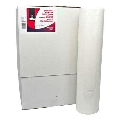 Onderzoekstafelrol - zuiver tissue - 2 laags - 50 m x 59 cm - 125 vel - WIT - 9 rollen