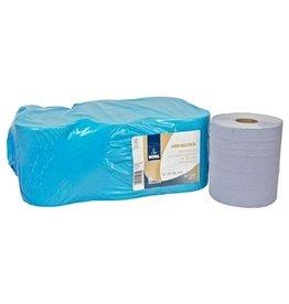 Midi Multirol - recycled tissue - 2 laags - 180 m x 23 cm - BLAUW - 6 rollen