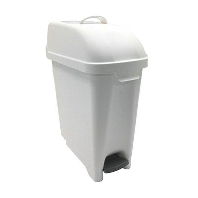 Admire poubelle/conteneur hygiénique - 10 l - modèle au sol - BLANC