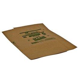 Papieren zak - 70 x 110 cm - T75 - BRUIN - per stuk