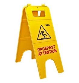 Panneau de signalisation double 'Opgepast-Attention'