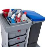Bac pour matériel et pour bouteilles avec répartition flexible