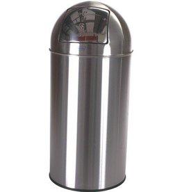 Push bin - 40 l - INOX MAT