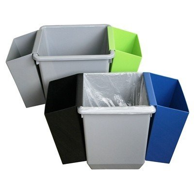 Bomabin Select poubelle en plastique - 21 l(Avant: Corbeille à papier carrée en plastique - 21 l)