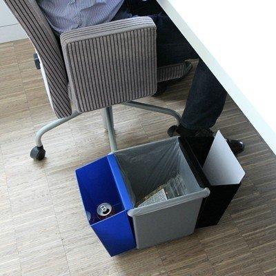 Inzetbak voor Bomabin Select afvalbak in kunststof - BLAUW(Voorheen: Inzetbak voor vierkante papiermand - BLAUW)