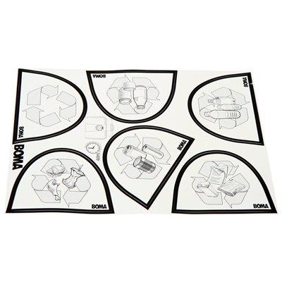 Bomabin Select Flat met papierdeksel - 80 l - ZWART - deksel BLAUW
