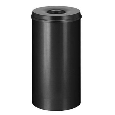 Vlamdovende afvalbak in metaal - 50 l - ZWART