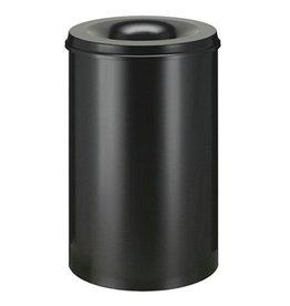 Vlamdovende afvalbak in metaal - 110 l - ZWART
